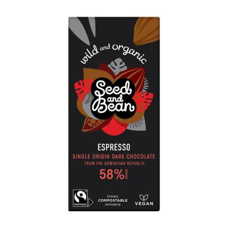 image of a bar of seed & bean coffee espresso chocolate