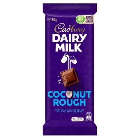 Image of a bar of Cadbury Dairy Milk Coconut Rough