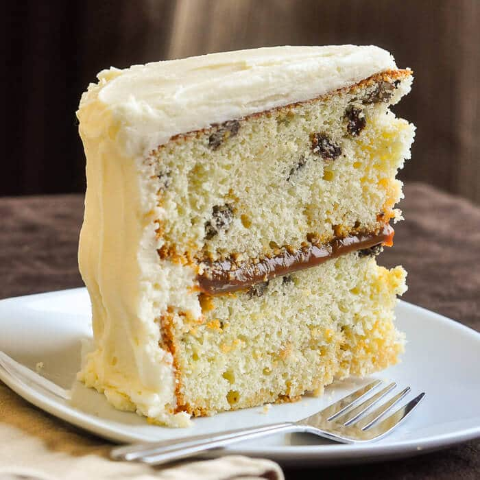 Frosting Caramel Quick Cake