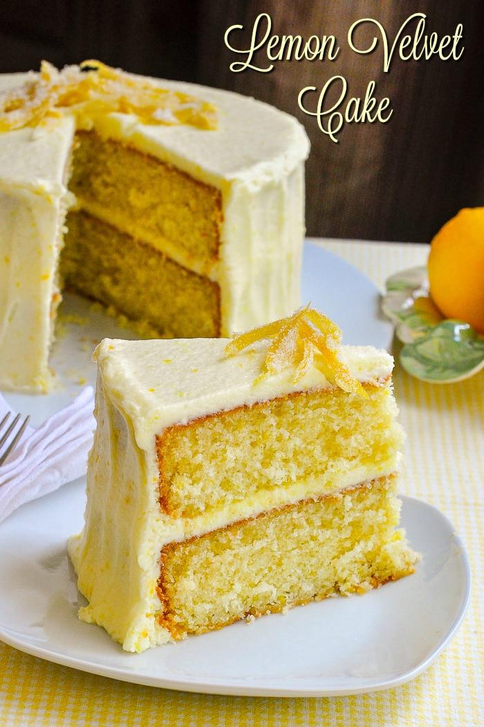 Lemon Velvet Cake Homemade Light Textured And Great