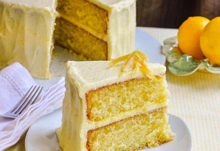 Lemon Velvet Cake Homemade Light Textured And Great Lemon Flavour