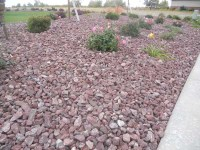 Montana Red Rock Landscape - Wolverine Rock and Mulch
