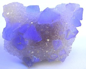 Fluorite under long wave ultraviolet light black light best black light uv flashlight for minerals