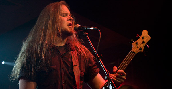 Insomnium on stage at London's Scala venue (April 2012)