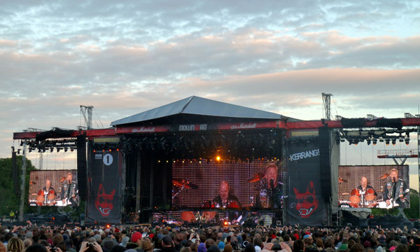 Metallica On the Jim Marshall Stage at Download 2012