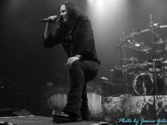 Thomas Youngblood of Kamelot on stage at London's Kentish Town Forum Addressing The Crowd November 2012