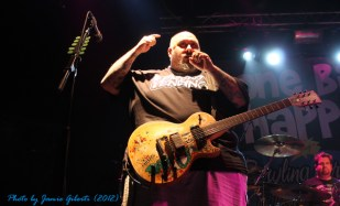Chris Burney from Bowling For Soup on stage at Cambridge Junction, October 2012