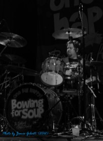 Gary Wiseman from Bowling For Soup on stage at Cambridge Junction, October 2012 (third photo)