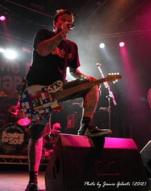 Jaret Reddick from Bowling For Soup on stage at Cambridge Junction, October 2012 (second photo)