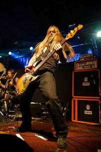 Martyn Millard of Orange Goblin on stage at Portsmouth Pyramids, November 2013