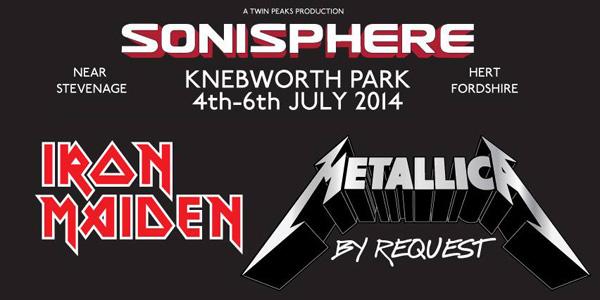 Sonisphere Knebworth 2014 Metallica and Iron Maiden header image
