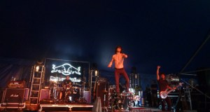 Nothing More on stage in the Red Bull Tent at Download Festival 2014
