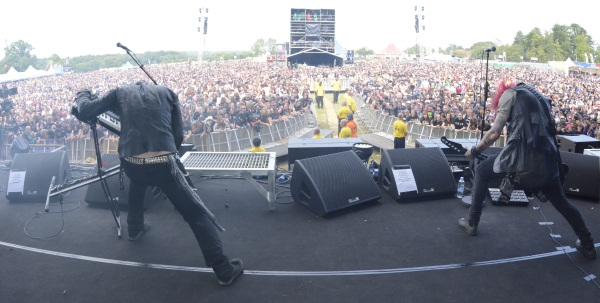 The Defiled performing at Sonisphere Knebworth 2014 on the Apollo Stage