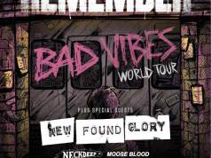 A Day To Remember New Found Glory 2017 UK Arena Tour Poster