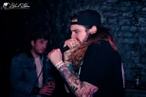 Snakes on stage at The Black Heart London 18th January 2017