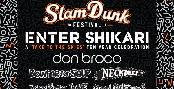 Slam Dunk Festival 2017 February Line Up Header Image