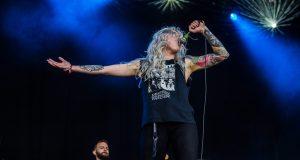 Venom Prison on stage at Bloodstock Open Air Festival 2017