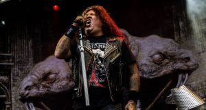 Chuck Billy of Testament On Stage At Bloodstock Open Air Festival 2017
