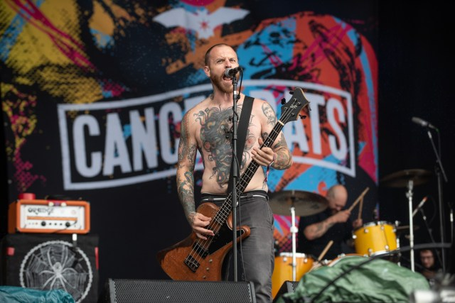 Jaye R. Schwarzer of Cancer Bats on stage at Bloodstock Open Air Festival - Matt Higgs