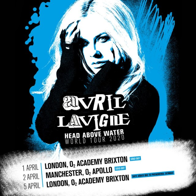 Avril Lavigne 2020 UK Tour Poster With Second London Show Added