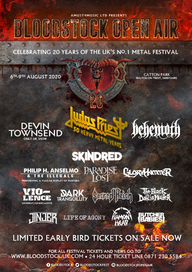 Bloodstock Open Air Festival 2020 - All Headliners Announcement Poster