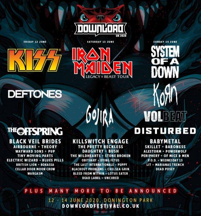 Download Festival 2020 - Second Line Up Poster