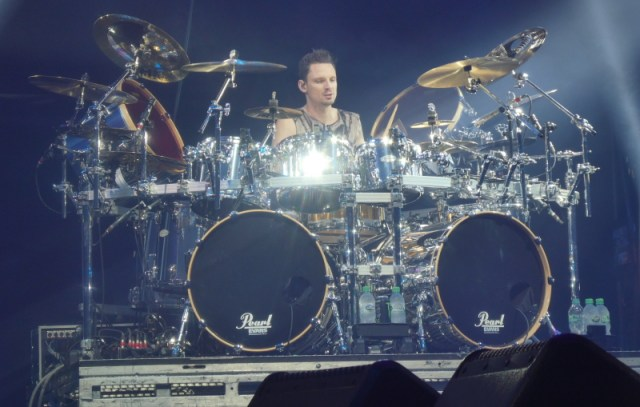 Charlie Engen of Five Finger Death Punch on stage at Wembley Arena, Jan 31st 2020