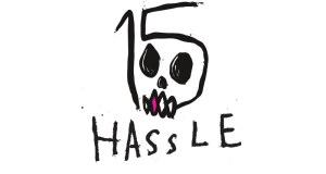 Hassle Records - 15 Year Anniversary Logo