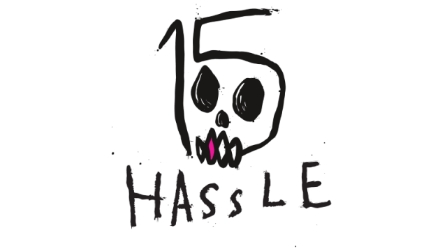 Hassle Records - 15 Year Anniversary Logo