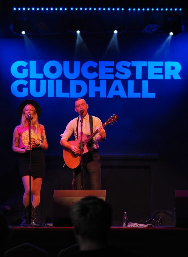 Jamie Lenman on Stage in Gloucester, July 2021, photo credit CPe FOTO