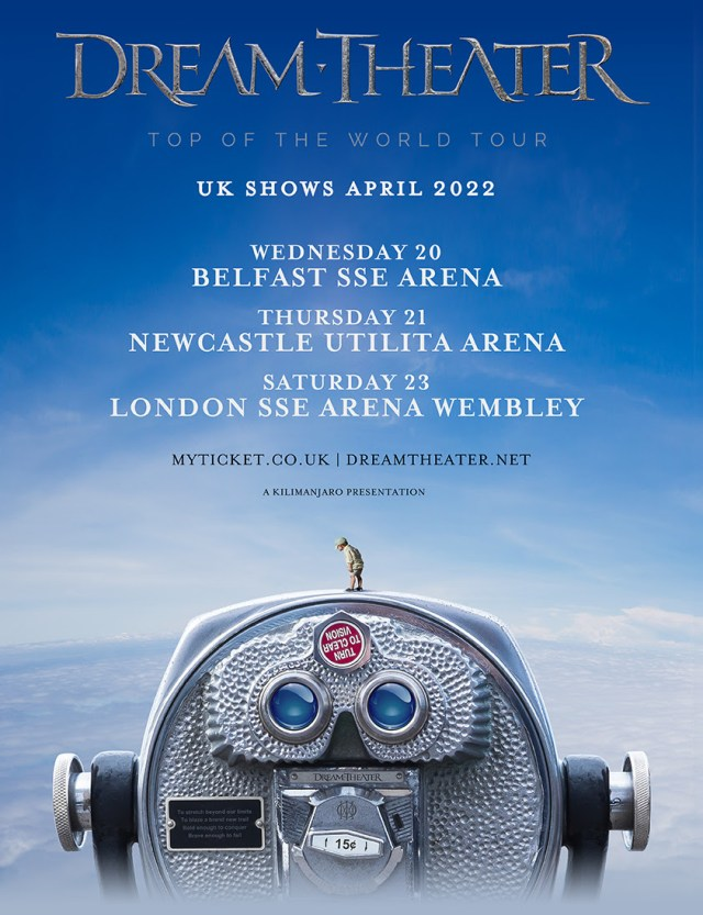 Dream Theater 2022 UK Tour Poster