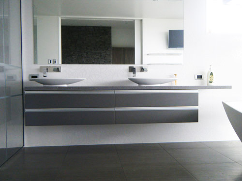 Stone Engineered Stone Bathroom Vanity Queenstown Rock Solid Installations Rock Solid Installations