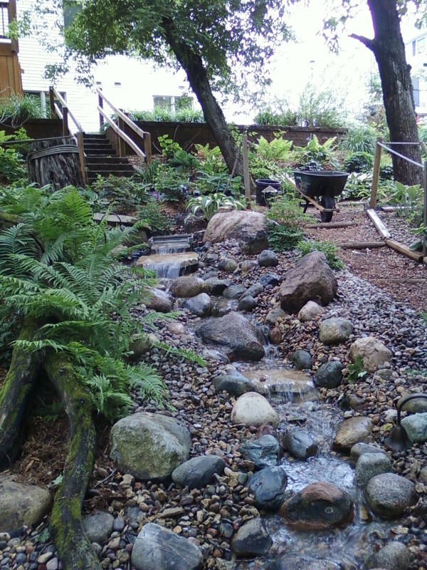 pondless stream with crushed rock