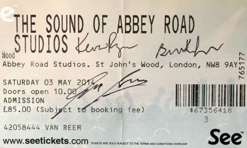 """Ticket """"The Sound of Abbey Road Studios"""""""