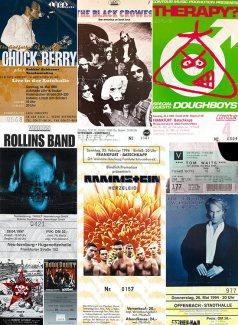 Collage Konzertkarten der 90er Jahre, Teil 2