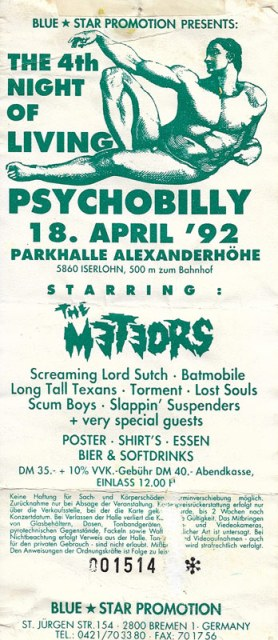 The 4th Night of Living Psychobilly 1992