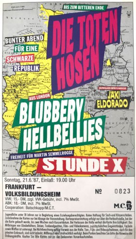 Die Toten Hosen 1987