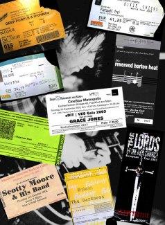 Konzertkarten 00er-Jahre Teil 1