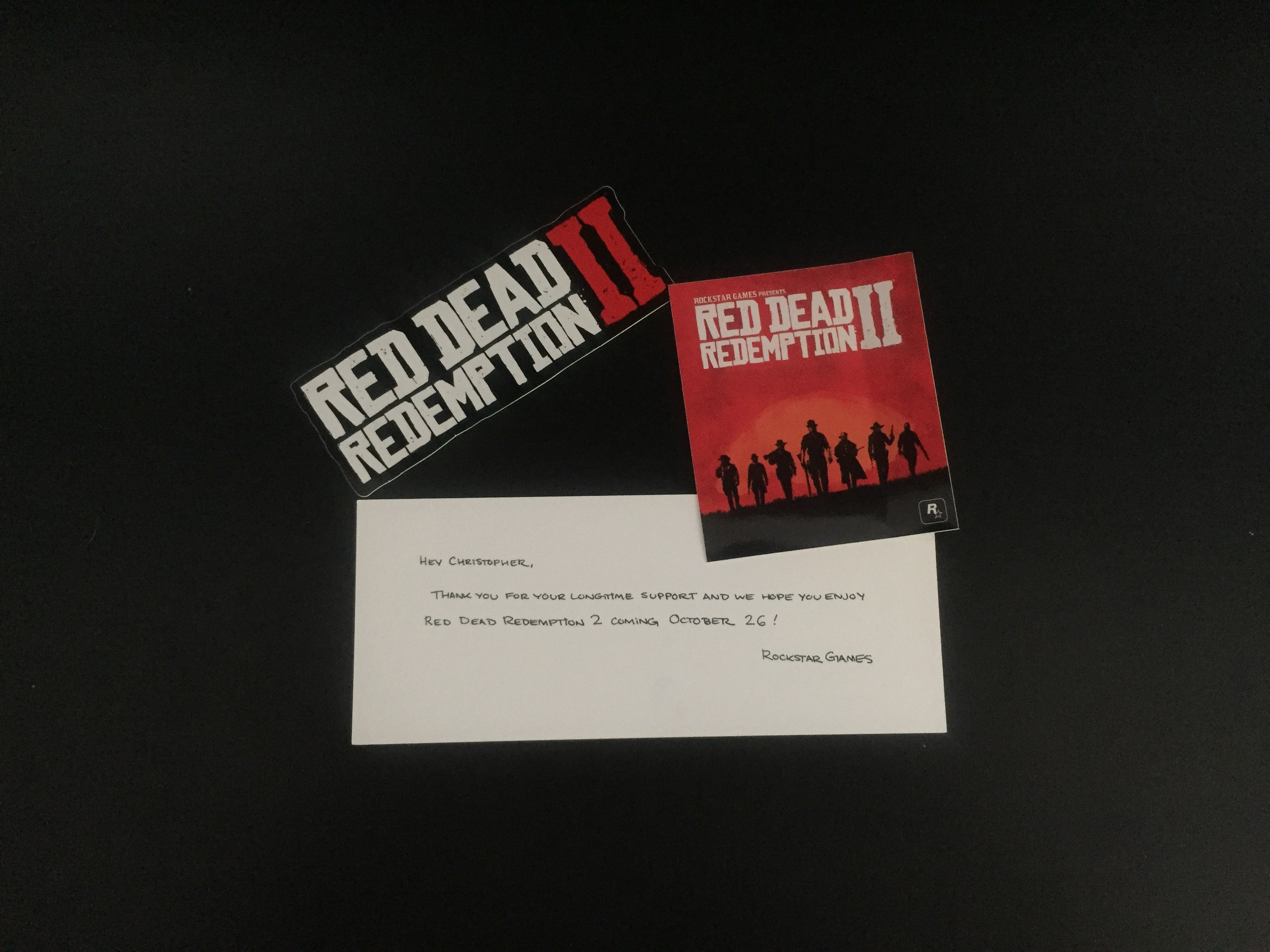 Colis Rockstar Games - Red Dead Redemption II - Stickers et Message