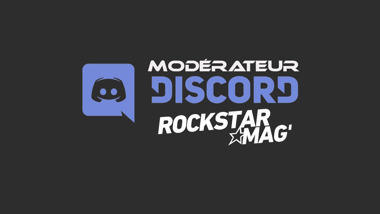 Devenez Modérateur sur le Serveur Discord de Rockstar Mag
