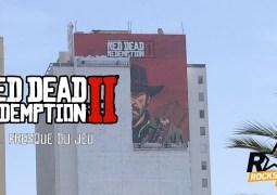 Une fresque de Red Dead Redemption II en cours de réalisation sur un building à Los Angeles