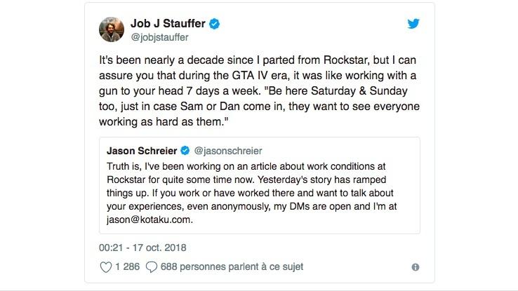 Vieux Tweet Rockstar Games
