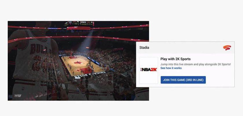 NBA 2K sur Google Stadia