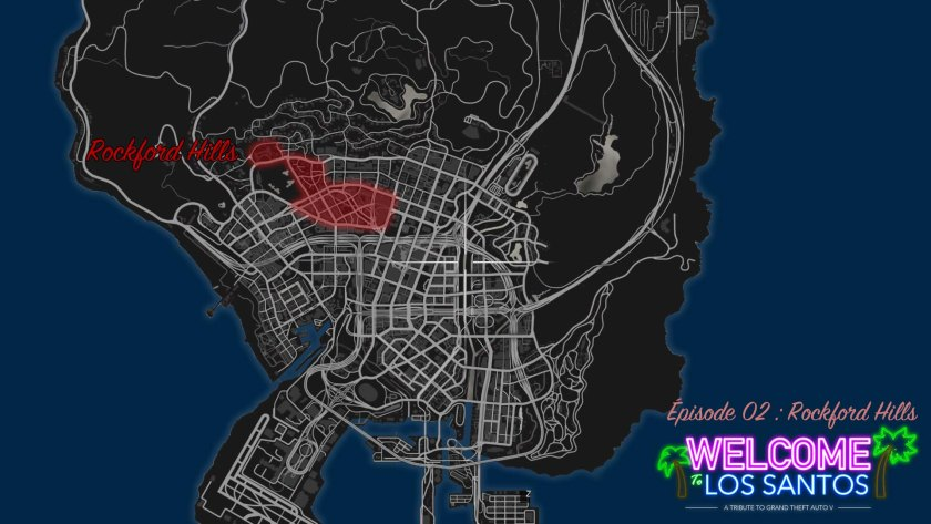 MAP GTA V Rockford Hills
