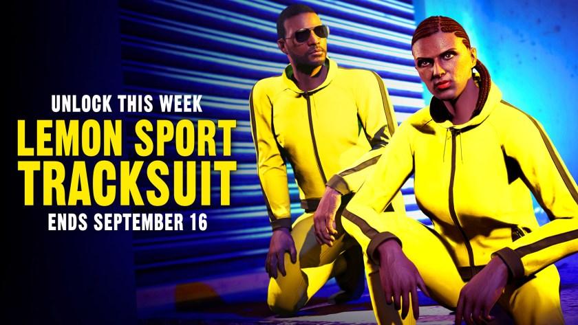 Tenue Lemon Sport Tracksuit GTA Online