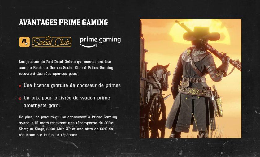 Red Dead Online Prime Gaming Février 2021