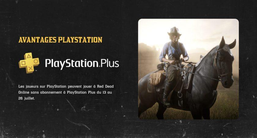 Red Dead Online : Avantage PS Plus
