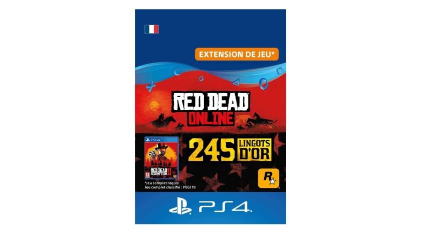 Red Dead Online Pack 245 Lingots d'or