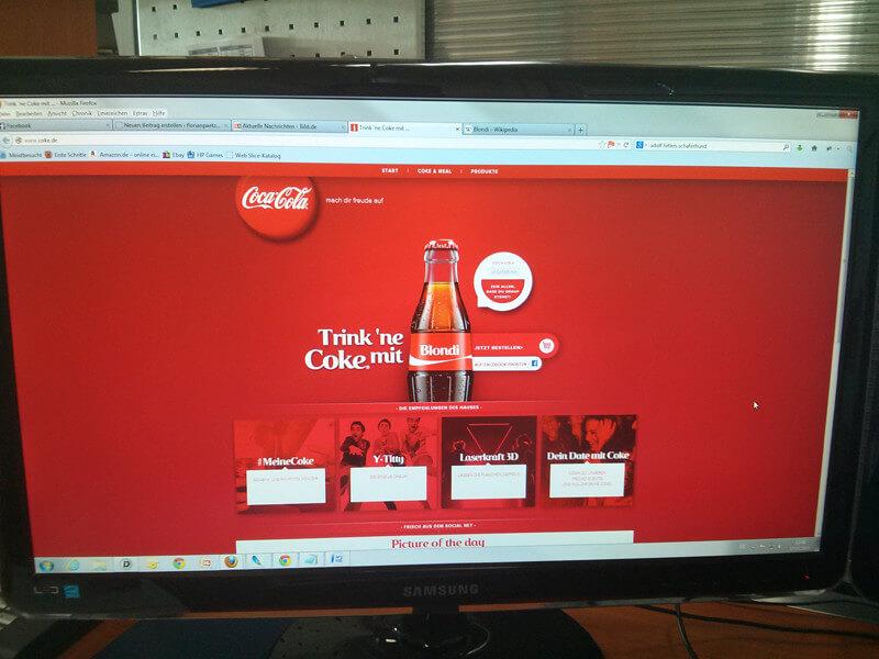 Trink ne Cola mit Blondi - www.cola.de - rockster.tv
