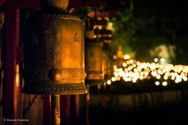 Dans tous les temples, on trouve des cloches que l'on peu faire vibrer.